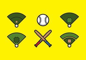 Free Baseball Vektor Icon Illustrationen # 5