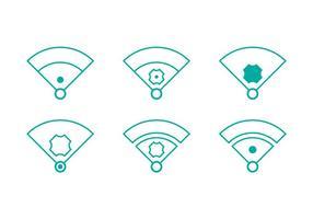 Free Baseball Vektor Icon Illustrationen # 1