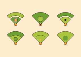 Free Baseball Vektor Icon Illustrationen # 3