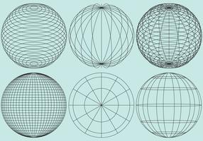 Globe Gitter vektor