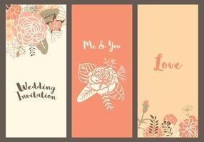 Vector Carnation Bröllopsmallar