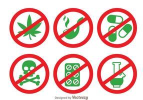 Keine Drogen Vektor