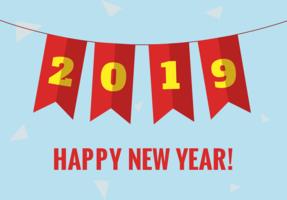 Gratis nytt år vektor