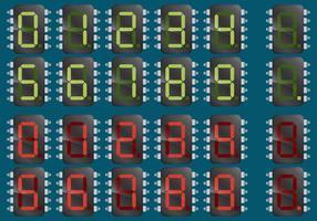 Numeriska mikrochips vektor