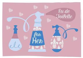 Free Parfüm Vektor Hintergrund Illustration