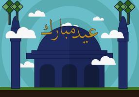 Eid mubarak fri vektor