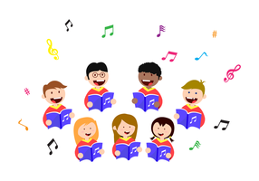 Freie Kinder singen Vektor