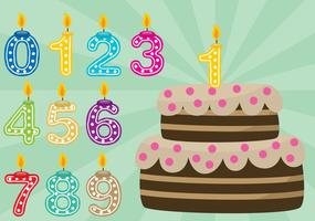 Födelsedagstårta med siffror vektor