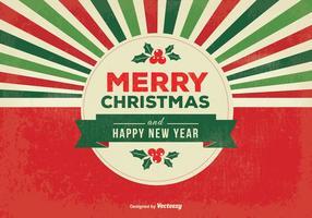 Retro frohe Weihnachten Illustration vektor