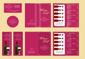 Klassiska mallar och vinlista