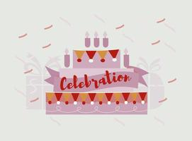 Kostenlose Geburtstagsfeier Vektor Hintergrund