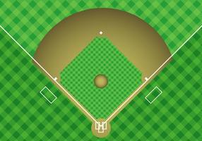 Kostenlose Baseball Arial View Vector