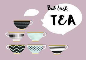 Gratis Set Tea Vector Ikoner