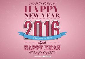 Happy 2016 Hintergrund vektor