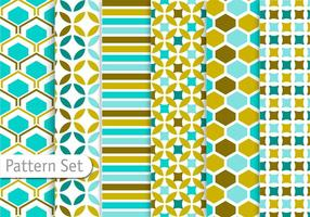 Dekorative Zusammenfassung Muster Set vektor