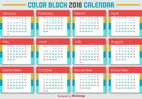 2016 Kalender vektor