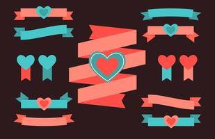 Liebesbänder vektor