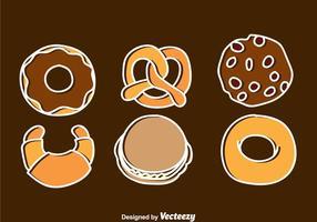 Bageri och bakverk ikoner