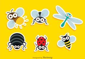Insekt söt klistermärke vektor