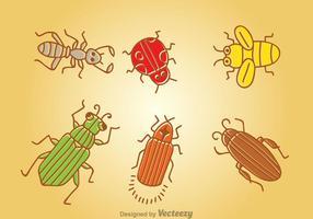 Tecknad insekt vektor