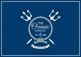Free Retro Nautical Label Vektor