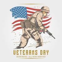 veterans dag memorial design vektor