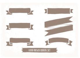 Handgezeichnetes Ribbon Set vektor