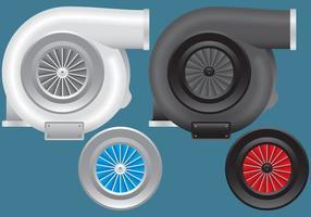 Turbolader-Vektoren vektor