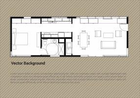 Gratis House Plan Vector