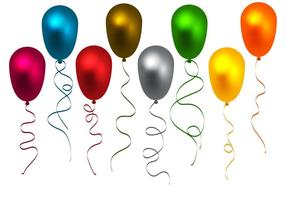 Kostenlose bunte Ballons Vektor