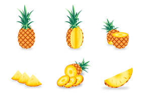 Gratis Ananas Vector