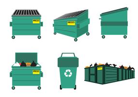 Freier Müllcontainer-Vektor vektor