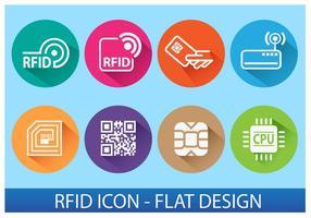Rfid-ikonen vektor