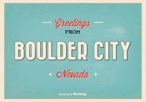 Retro stil Boulder City Greeting Illustration