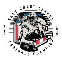Kreis Emblem für American Football Champion
