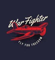 roter Flugzeugkämpfer