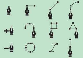 Vektor Stift Nib Icons