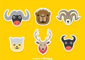 Tecknade djurklistermärkear vektor
