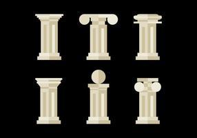 Plana och minimalistiska romerska pelare vektor