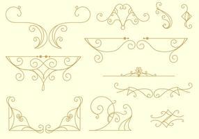 Dekorativa arabesco linjer