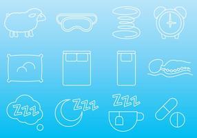 Matratze und Schlaf Icons vektor