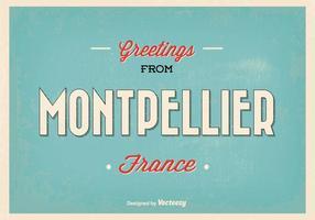 Montpellier Frankreich Gruß Illustration vektor