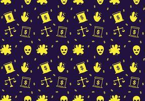 Free Robber und Police Patterns # 4 vektor