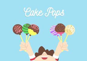 Tårta pops vektor
