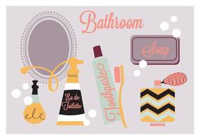 Free Badezimmer Elemente Vektor Hintergrund
