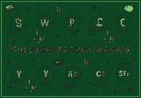 Kostenlose Währungen Icon Doodle Vector Hintergrund
