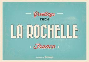 Rochelle Frankreich Gruß Illustration
