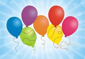 Uppsättning ballonger fri vektor