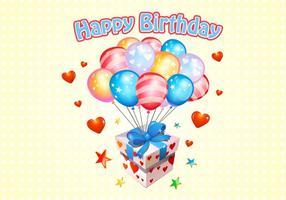 Grattis på födelsedagen ballonger Gratis Vector