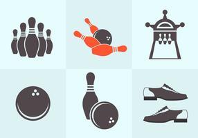 Bowlingvektorer vektor